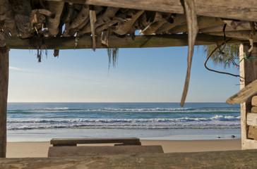 Ocean View from Beach Hut