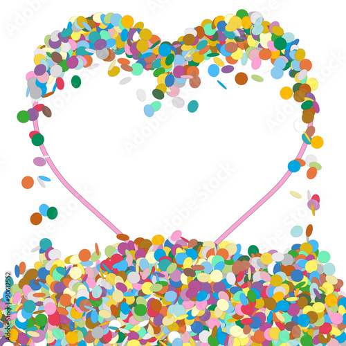 Abstract Colourful Confetti Word - PARTY Letter - Hintergrund ...