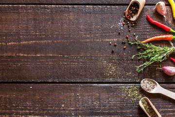 Fotorolgordijn Kruiden spices and herbs