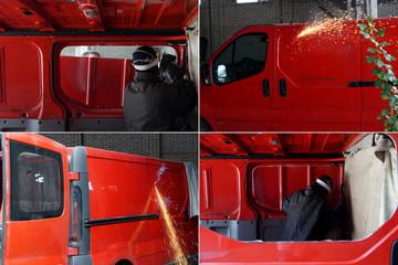 Alteration car. Passenger truck
