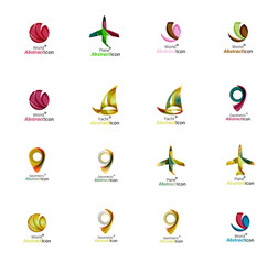 Set of abstract travel logo icons. Business, app or internet web