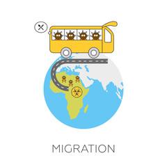 Global migration concept