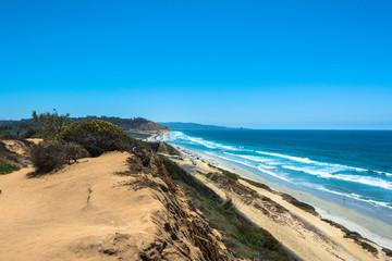The coast along Torrey Pines, South California