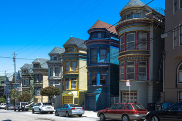 Painted houses in San Francisco
