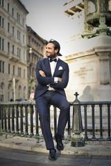 Elegantly dressed man