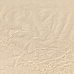 Crumpled paper sheet. Wrapping-paper texture.