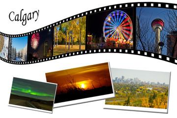 Calgary Travel Photos Film Strip