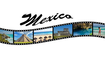 Travel Photo Film Strip of Mexico