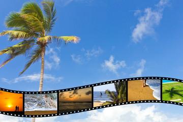 Beach theme background