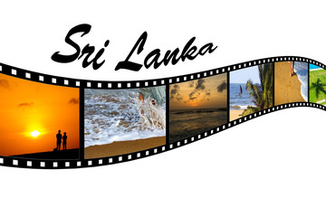 Travel Photo Film Strip of Sri Lankan Beaches