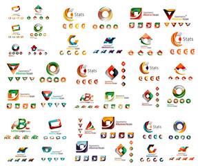 Universal set of abstract logos. Business, app, web design