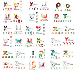 Mega set of letter logos