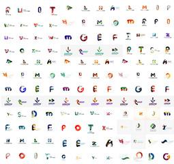 Mega set of letter logos