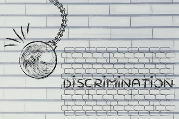 wrecking ball against discriminations