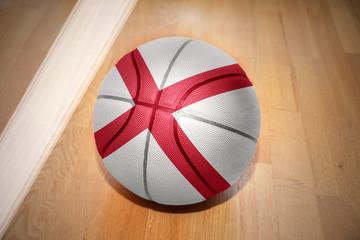 basketball ball with the flag of alabama state
