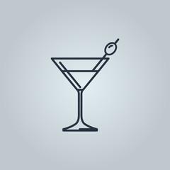 Linear icon of martini