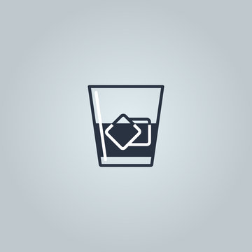 Linear icon of whiskey