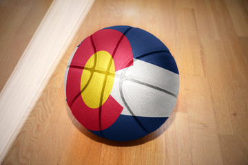 basketball ball with the flag of colorado state