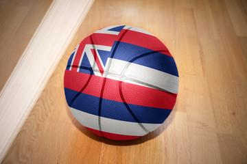 basketball ball with the flag of hawaii state