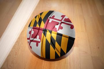 basketball ball with the flag of maryland state