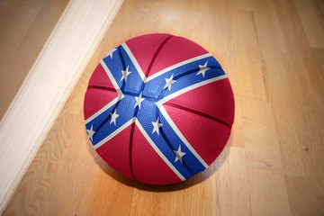 basketball ball with the confederate flag