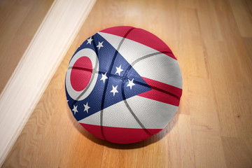 basketball ball with the flag of ohio state