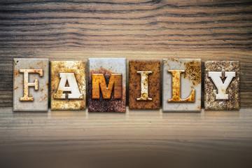 Family Concept Letterpress Theme