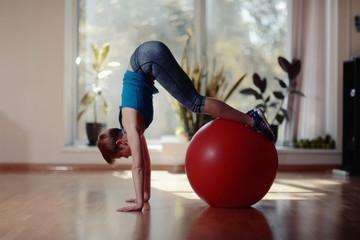 girl gym workout yoga
