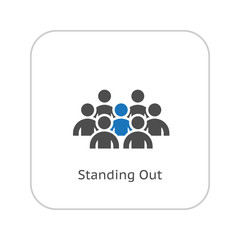 Standing Out Icon. Business Concept. Flat Design.