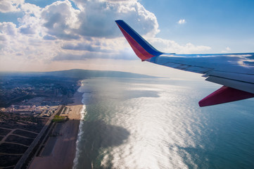 Photo sur Aluminium Los Angeles Take off west from LAX