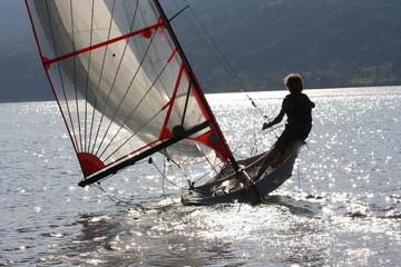 Segeln mit der Skiff-Klasse 29er auf dem Großen Alpsee