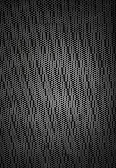 Textured grunge metal grille background