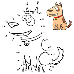 Vector Illustration of Education Numbers game Dog