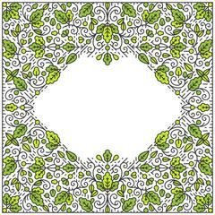 Ornamental line background