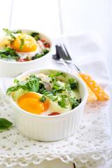 Tomato and egg bake