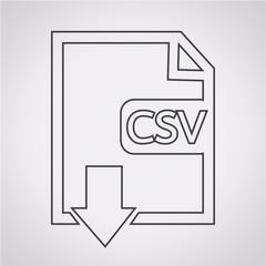File type CSV icon