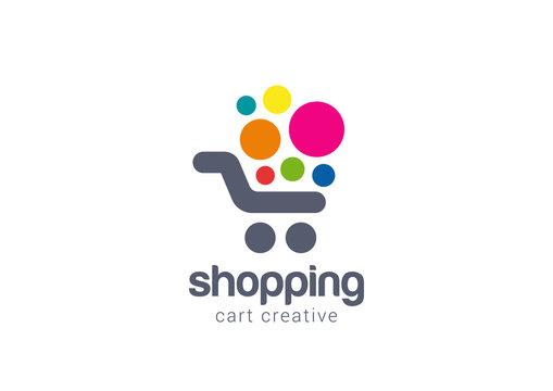 Shopping cart Logo design vector concept icon