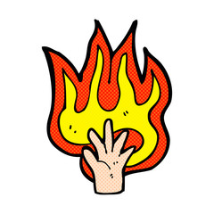 flaming hand symbol