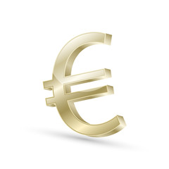 Euro currency gold symbol icon