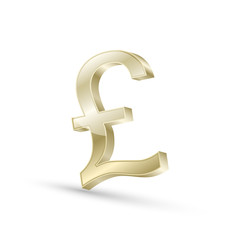 Pound currency gold symbol icon