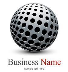 Logo, abstract sphere with halftone shape