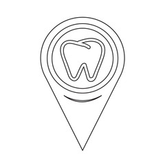 Map Pointer Tooth Icon