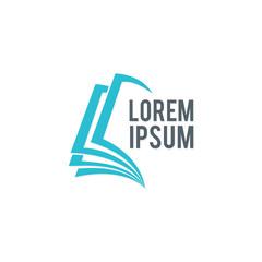 book education abstract vector logo