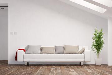 Platz für Leinwand in Dachgeschosswohnung