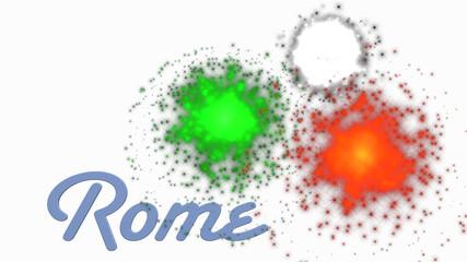 Fuochi d'artificio a Roma