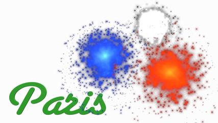 Fuochi d'artificio a Parigi