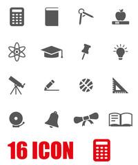 Vector grey education icon set