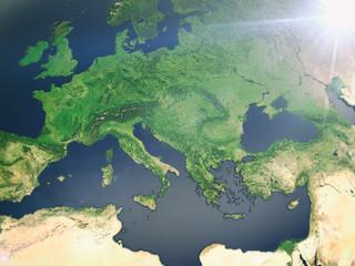 Europa aus dem Weltall