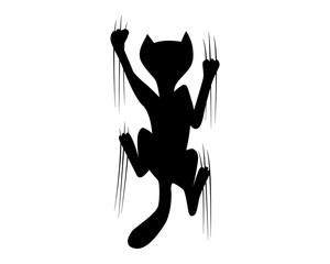 climbing cat silhouette