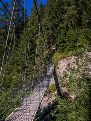 Hanging bridge on a canyon in Switzerland -2